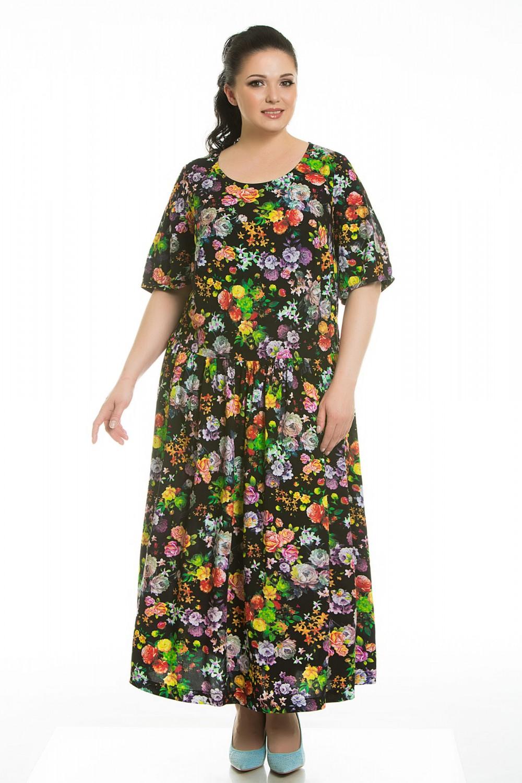 Летние прямые платья для полных