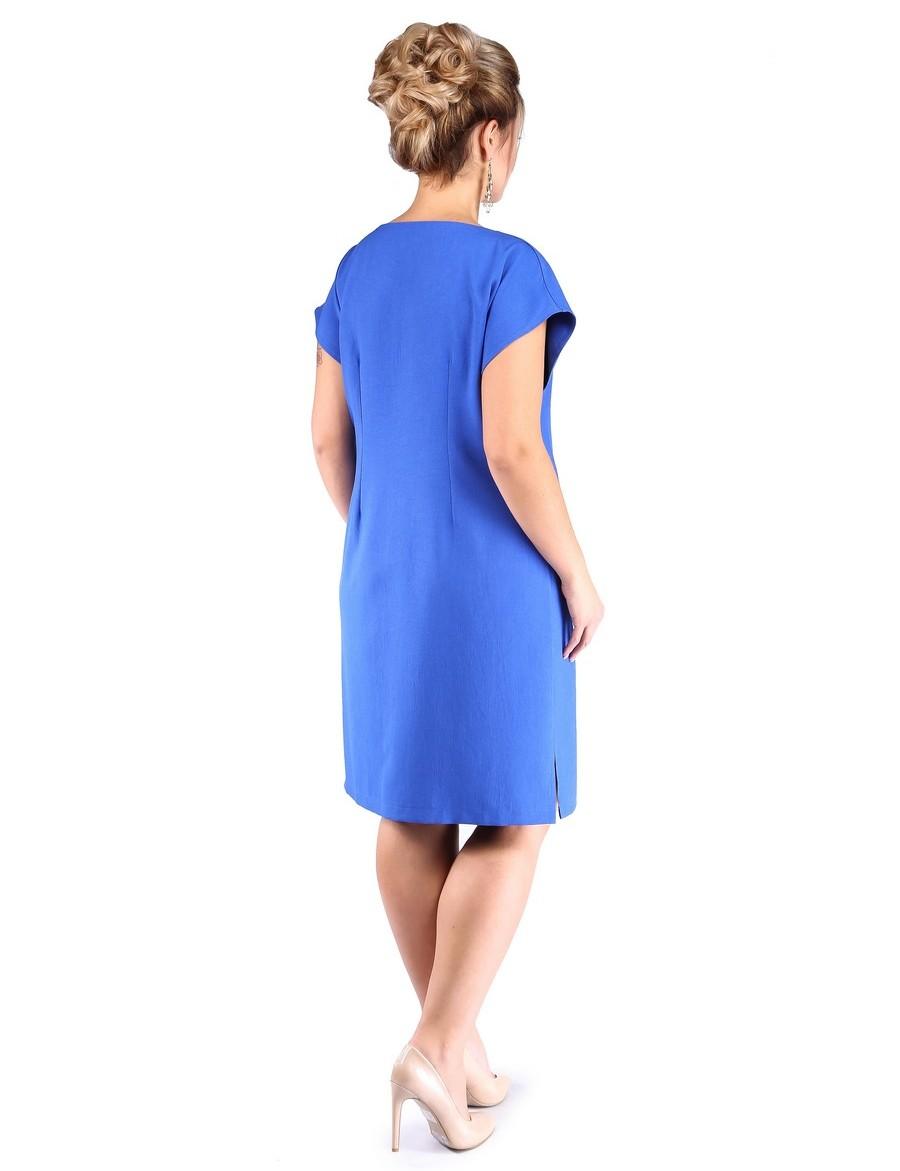 Платье с прорезными карманами и листочкой