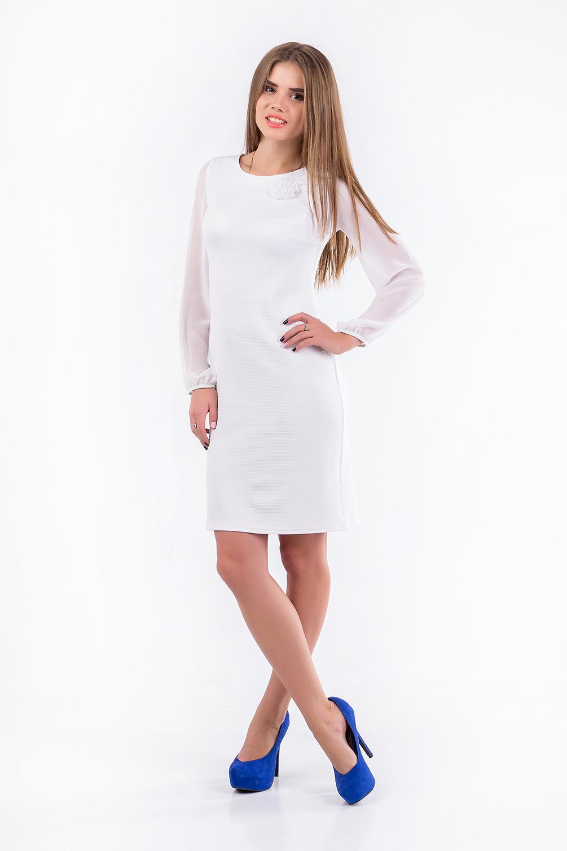 Купить Платье Трикотажное Белое