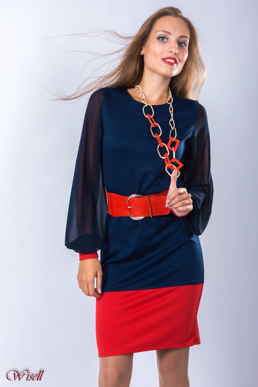 Платья синий красный