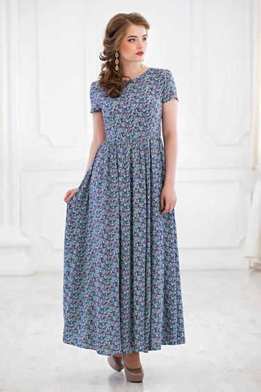 Платье для полных женщин из штапеля