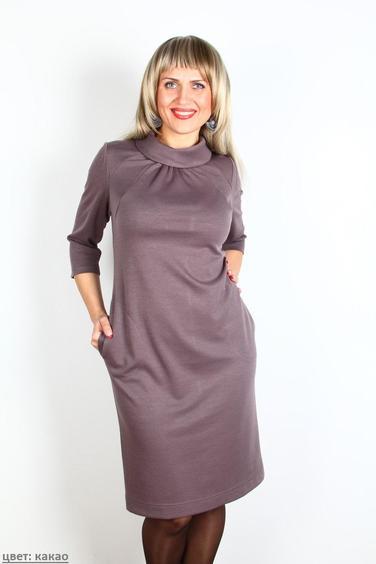 Фасон платья из трикотажа для полных
