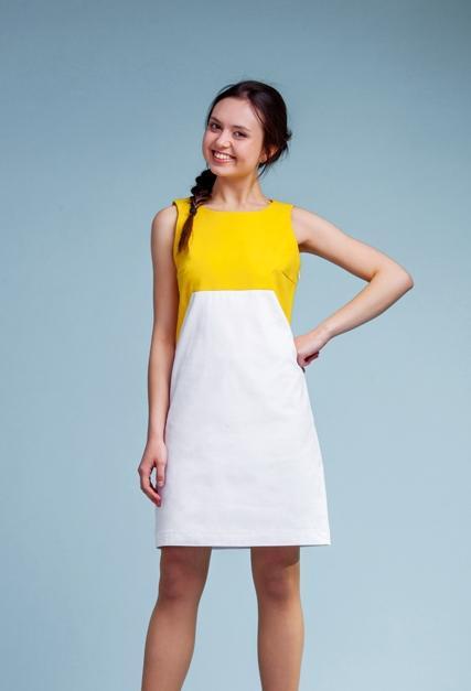 Фото летних комбинированных платьев